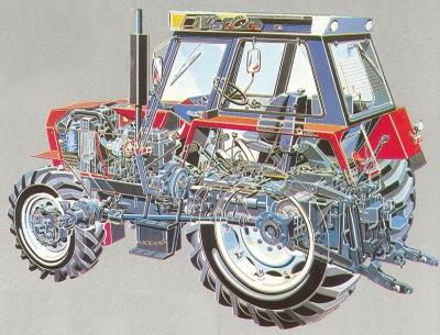 Zetor traktoreiden teknisiä tietoja